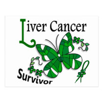 Survivor 6 Liver Cancer Postcard