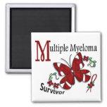 Survivor 6 Multiple Myeloma 2 Inch Square Magnet