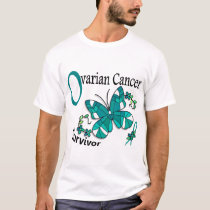 Survivor 6 Ovarian Cancer T-Shirt