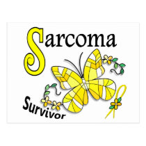 Survivor 6 Sarcoma Postcard