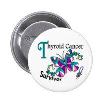 Survivor 6 Thyroid Cancer Button
