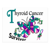 Survivor 6 Thyroid Cancer Postcard