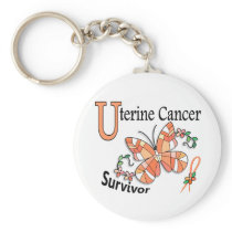 Survivor 6 Uterine Cancer Keychain