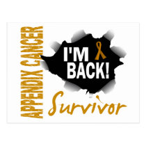 Survivor 7 Appendix Cancer Postcard