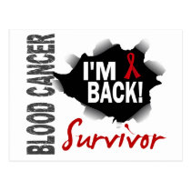Survivor 7 Blood Cancer Postcard