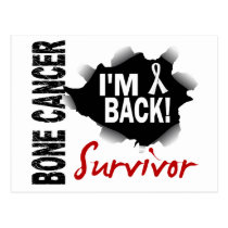 Survivor 7 Bone Cancer Postcard