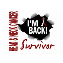 Survivor 7 Head Neck Cancer Postcard