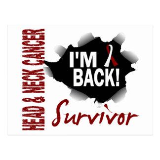 Survivor 7 Head Neck Cancer Postcard