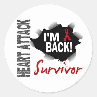Survivor 7 Heart Attack Classic Round Sticker