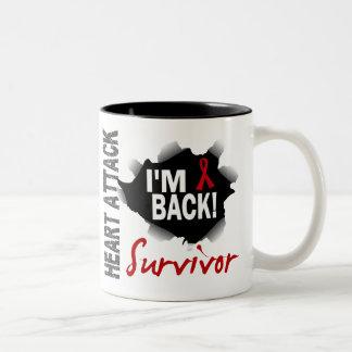 Survivor 7 Heart Attack Two-Tone Coffee Mug