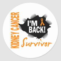 Survivor 7 Kidney Cancer Classic Round Sticker