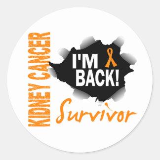 Survivor 7 Kidney Cancer Classic Round Sticker