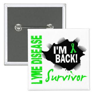 Survivor 7 Lyme Disease Button