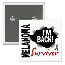 Survivor 7 Melanoma Pinback Button