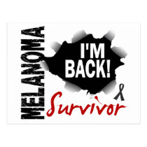 Survivor 7 Melanoma Postcard