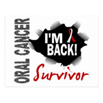 Survivor 7 Oral Cancer Postcard