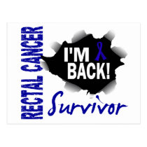 Survivor 7 Rectal Cancer Postcard