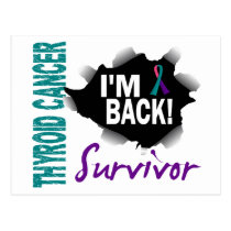 Survivor 7 Thyroid Cancer Postcard