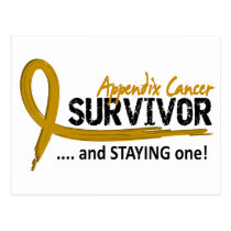 Survivor 8 Appendix Cancer Postcard