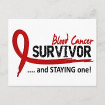 Survivor 8 Blood Cancer Postcard