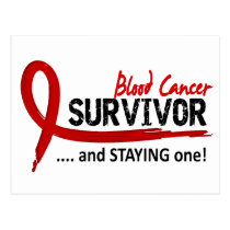 Survivor 8 Blood Cancer Postcard