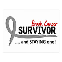 Survivor 8 Brain Cancer Postcard