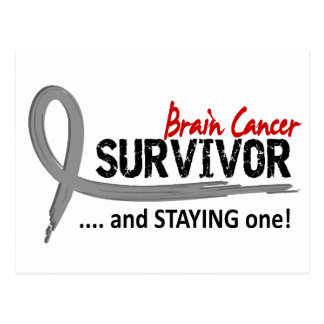 Survivor 8 Brain Cancer Postcard