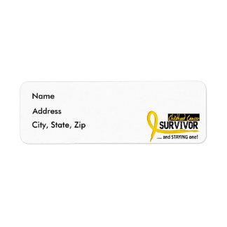 Survivor 8 Childhood Cancer Label