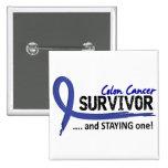 Survivor 8 Colon Cancer Pins