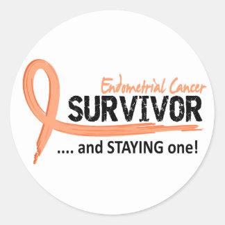 Survivor 8 Endometrial Cancer Round Sticker