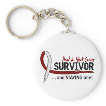 Survivor 8 Head Neck Cancer Keychain
