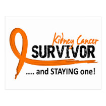 Survivor 8 Kidney Cancer Postcard
