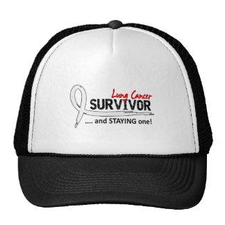 Survivor 8 Lung Cancer Trucker Hat