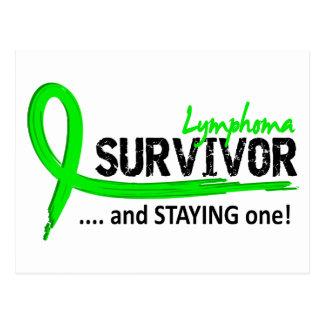 Survivor 8 Lymphoma Postcard