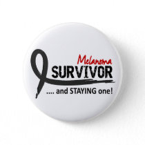 Survivor 8 Melanoma Pinback Button