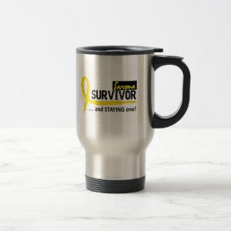 Survivor 8 Sarcoma 15 Oz Stainless Steel Travel Mug