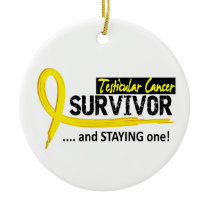 Survivor 8 Testicular Cancer Ceramic Ornament