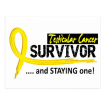 Survivor 8 Testicular Cancer Postcard