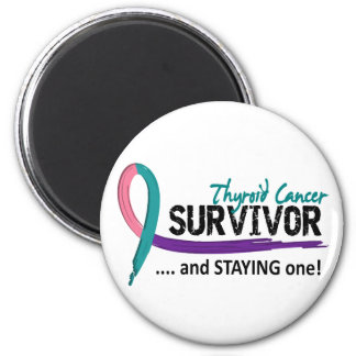 Survivor 8 Thyroid Cancer 2 Inch Round Magnet