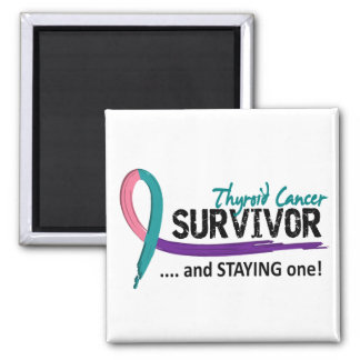 Survivor 8 Thyroid Cancer 2 Inch Square Magnet