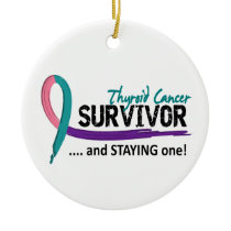 Survivor 8 Thyroid Cancer Ceramic Ornament
