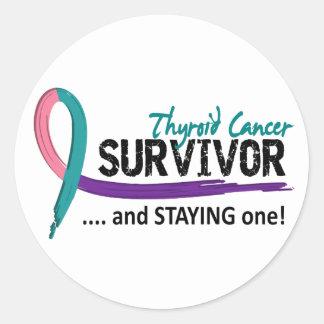 Survivor 8 Thyroid Cancer Classic Round Sticker