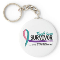 Survivor 8 Thyroid Cancer Keychain