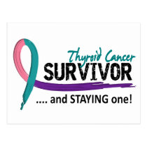 Survivor 8 Thyroid Cancer Postcard