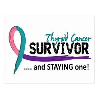 Survivor 8 Thyroid Cancer Postcard