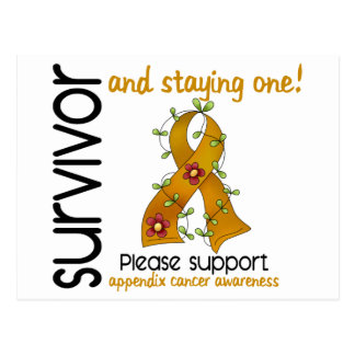 Survivor 9 Appendix Cancer Postcard