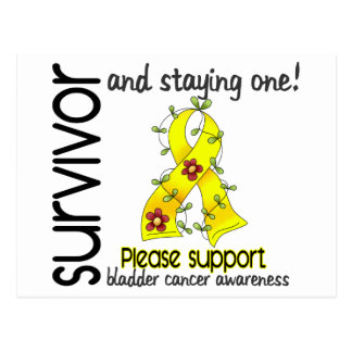 Survivor 9 Bladder Cancer Postcard