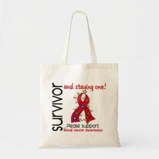 Survivor 9 Blood Cancer Budget Tote Bag