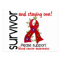 Survivor 9 Blood Cancer Postcard