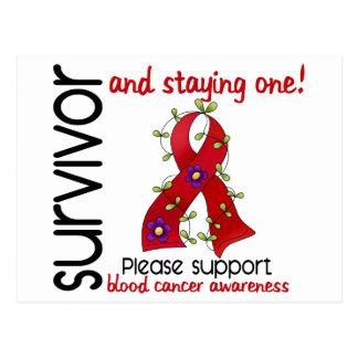 Survivor 9 Blood Cancer Postcard
